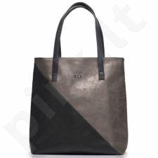 Rankinė moteriška shopper bag FELICE Verona tamsiai pilka