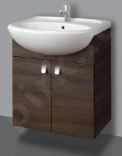Apatinė pakabinama vonios spintelė SA 63-11 dark su praustuvu Riva 64