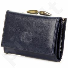 P10 tamsiai mėlyna piniginė odinė moterims