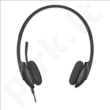Logitech Headset H340, USB, Black