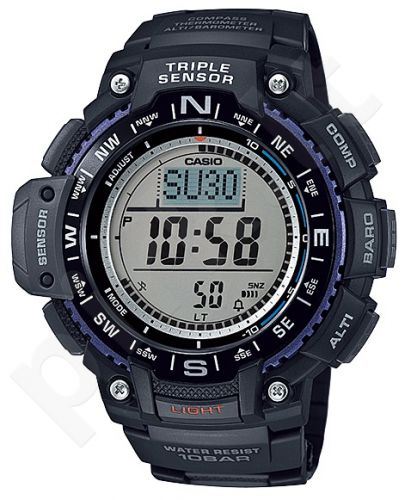 Laikrodis CASIO SGW-1000-1 Auto led. Digital Compass. Barometer. Thermometer. Altimeter. 5 daily s Snooze Hourly Time Full auto-calendar WR 200mt **ORIGINAL BOX**