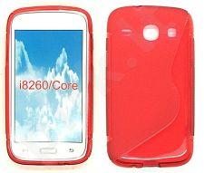 Samsung Galaxy Core dėklas SILICON Forever raudonas