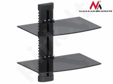 Maclean MC-662 2-Tier Sieninis Floating Glass Shelf Support DVD Console PS3 Xbox