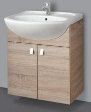 Apatinė pakabinama vonios spintelė SA 63-11 sonoma su praustuvu Riva 64