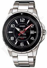 Laikrodis CASIO MTD-1074D-1 SS Case. quarz. Data. WR 100mt **ORIGINAL BOX**