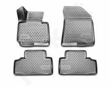 Guminiai kilimėliai 3D KIA Carens 2013-> 4 pcs. /L38001G /gray