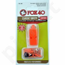 Švilpukas FOX Classic + virvutė 9903-0308 oranžinis