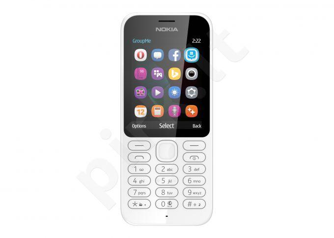 Telefonas Nokia 222 Single SIM 26220 baltas