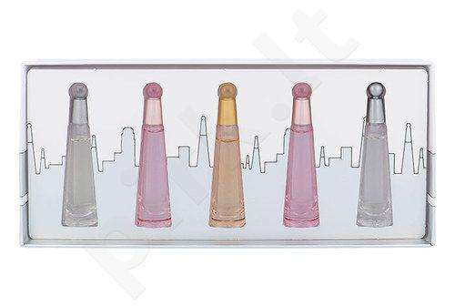 Issey Miyake Mini Set rinkinys moterims ir vyrams, (3,5ml EDP L´Eau d´Issey + 2x3,5ml EDT L´Eau d´Issey Florale + 3,5ml EDT L´Eau d´Issey + 3,5ml EDP L´Eau d´Issey Absolue)