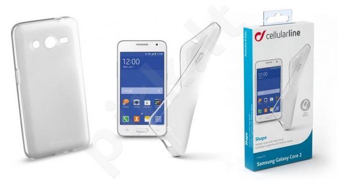 Samsung Galaxy Core 2 dėklas SHAPE Cellular permatomas
