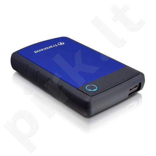 Išorinis diskas Transcend 25H3B 2.5' 1TB USB3, Triguba smūgių slopinimo sistema