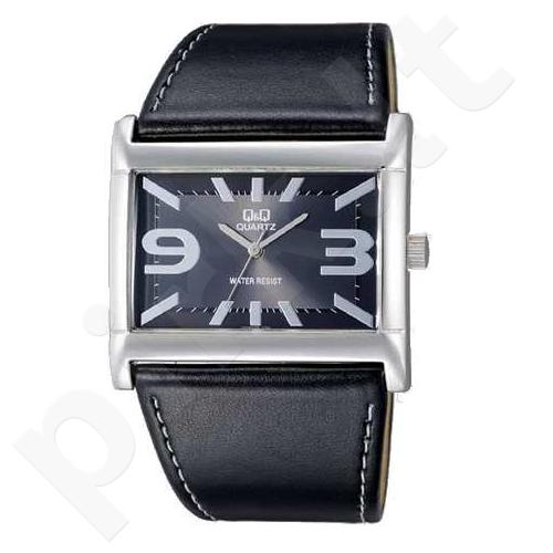 Moteriškas laikrodis Q&Q VX45J302Y Moteriškas stilingas laikrodis odiniu dirželiu
