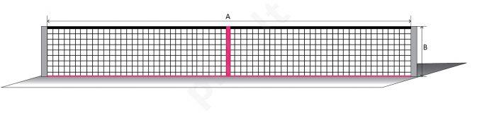 Lauko teniso tinklas ECONOM 12,80x1,08m PA 42x42x3