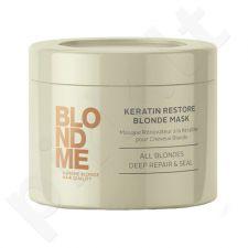 Schwarzkopf Blond Me Keratin Restore Blonde Mask, kosmetika moterims, 200ml