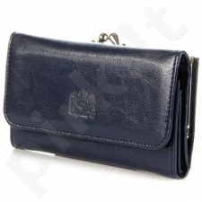 P8 odinė piniginė moterims tamsiai mėlyna