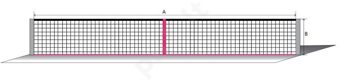 Lauko teniso tinklas SPORT 12,80x1,08m PE 45x45x3m