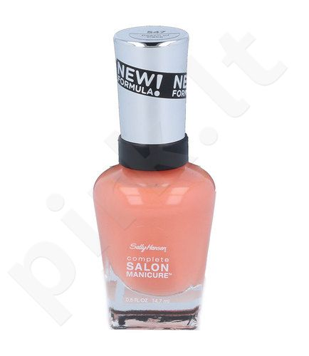 Sally Hansen Complete Salon Manicure, nagų lakas, kosmetika moterims, 14,7ml, (547 Peach Of Cake)