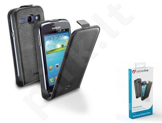 Samsung Galaxy Core dėklas FLAP ESSEN Cellular juodas
