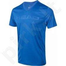 Marškinėliai tenisui Head Transition T4S V-Neck Shirt M 811306-BL