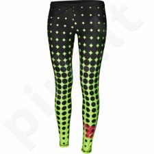 Sportinės kelnės FeelJ! Dots Lime Long W 262