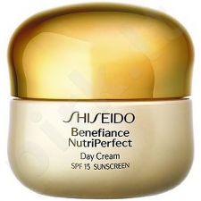 Shiseido BENEFIANCE NutriPerfect dieninis veido kremas SPF15, kosmetika moterims, 50ml[pažeista pakuotė]