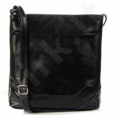 DAN-A T283 juoda odinė rankinė moterims