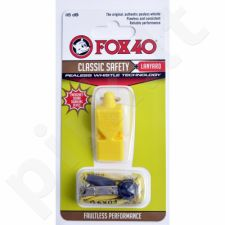 Švilpukas FOX Classic + virvutė 9903-0208  geltonas