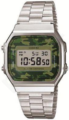 Laikrodis *NEW!* CASIO VINTAGE CAMOUFLAGE   A168WEC-3  . chronografas **ORIGINAL BOX**
