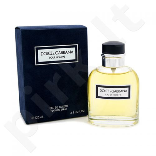 Dolce&Gabbana Pour Homme, tualetinis vanduo vyrams, 125ml
