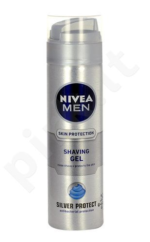 Nivea Men Silver Protect skutimosi želė, kosmetika vyrams, 200ml