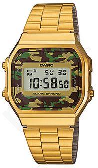 Laikrodis *NEW!* CASIO VINTAGE CAMOUFLAGE   A168WEGC-3  . chronografas **ORIGINAL BOX**