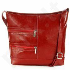 DAN-A T287 raudona rankinė moterims natūralios odos