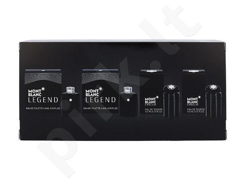 Mont Blanc Mini set rinkinys moterims, (2x4,5ml EDT Legend + 2x4,5ml EDT Emblem)