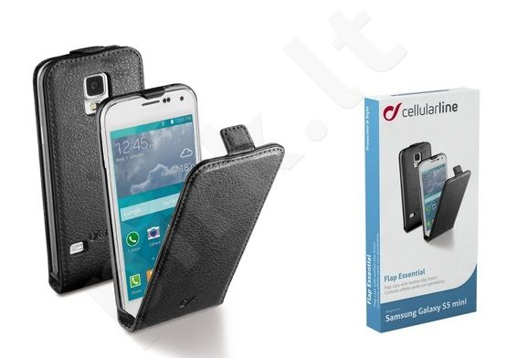 Samsung Galaxy S5 mini dėklas FLAP ESSEN Cellular juodas