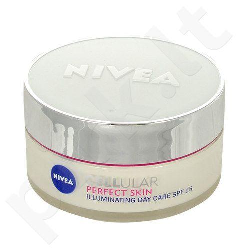 Nivea Cellular Perfect Skin Illuminating dieninis kremas SPF15, kosmetika moterims, 50ml