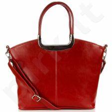 DAN-A T262 raudona rankinė natūralios odos