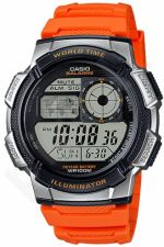 Laikrodis CASIO AE-1000W-4B YOUTH DIGITAL COLLECTION World Time. Illuminator. WR 100mt ***ORIGINAL BOX***
