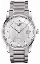 Laikrodis TISSOT TITANIUM vyriškas automatinis T0874074403700