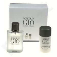 Giorgio Armani (Edt 100ml + 75ml deo stick) Acqua di Gio, 100ml, tualetinis vanduo vyrams [Edt 100ml + 75ml deo stick]