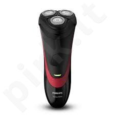 PHILIPS S1310/04 Shaver, CloseCut blade system, Li-Ion, Black/Red