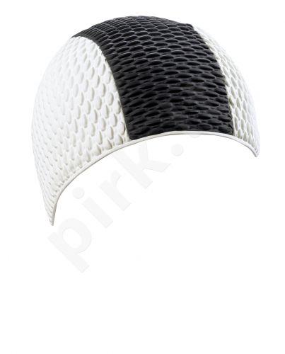 Kepuraitė plaukimui vyrams gum. 7330 10 white/black