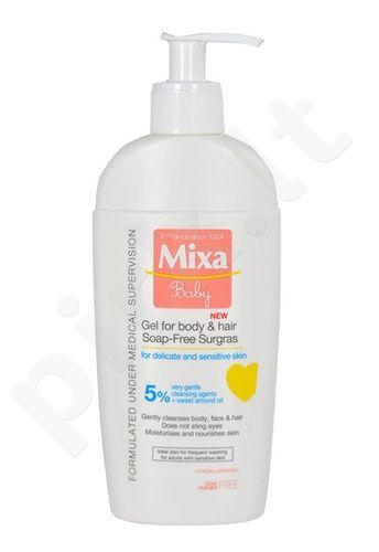 Mixa Baby gelis For Body & Hair, kosmetika moterims, 250ml