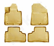Guminiai kilimėliai 3D KIA Sorento 2015->, 5/7 seats, 4 pcs. /L38016B /beige