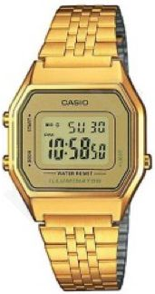 Laikrodis CASIO   LA-680WG-1B RETRO ILLUMINATOR Digit Autocalendar **ORIGINAL BOX**