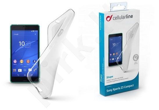 Sony Xperia Z3 Compact dėklas SHAPE Cellular baltas permatomas