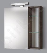 Pakabinama vonios spintelė su veidrodinėmis durimis, apšvietimu ir rozete Riva SV 60-11 dark