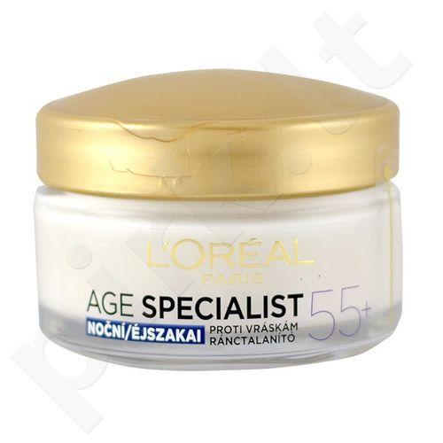 L´Oreal Paris Age Specialist 55+ naktinis kremas, kosmetika moterims, 50ml