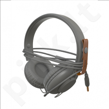 Ausinės su mikrofonu ACME SATURN Light headphones + cable organizing + mic / Grey