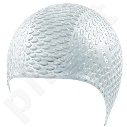Kepuraitė plaukimui vyrams silikoninė bubble 7396 1 white