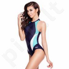Maudymosi kostiumėlis Aqua-Speed Nina W 334 tamsiai mėlyna